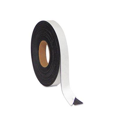 "Magnetic adhesive tape roll, black, 1"" x 50 ft., sold as 1 each"