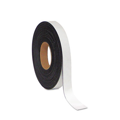 "Dry erase magnetic tape roll, white, 1"" x 50 ft., sold as 1 each"