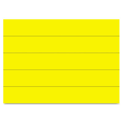 "Dry erase magnetic tape strips, yellow, 6"" x 7/8"", 25/pack, sold as 1 package"
