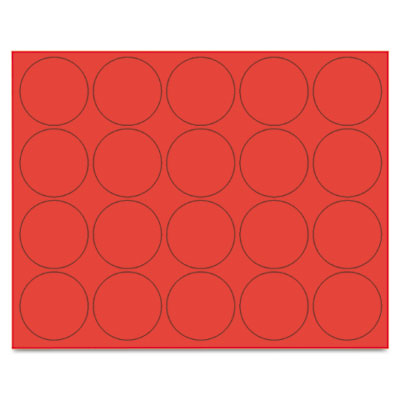 "Interchangeable magnetic characters, circles, red, 3/4"" dia., 20/pack, sold as 1 package"