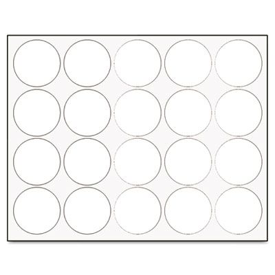 "Interchangeable magnetic characters, circles, white, 3/4"" dia., 20/pack, sold as 1 package"