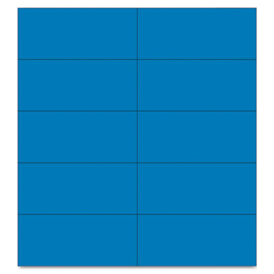 "Dry erase magnetic tape strips, blue, 2"" x 7/8"", 25/pack, sold as 1 package"