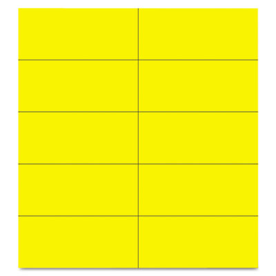 "Dry erase magnetic tape strips, yellow, 2"" x 7/8"", 25/pack, sold as 1 package"