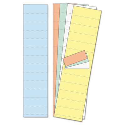 "Data card replacement, 2"" w x 1""h, assorted colors, 1000/pack, sold as 1 package"