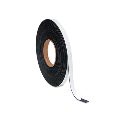 "Magnetic adhesive tape roll, 1/2"" x 50 ft., black, sold as 1 each"
