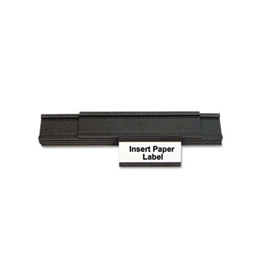 Magnetic card holders, 2w x 1h, black, 25/pack, sold as 1 package