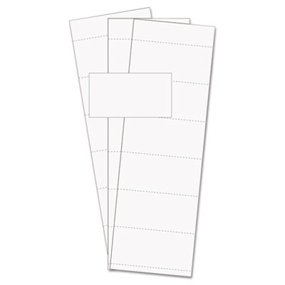 "Data card replacement, 3""w x 1 3/4""h, white, 500/pk, sold as 1 package"
