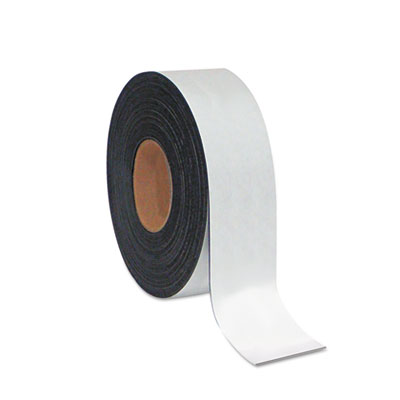 "Dry erase magnetic tape roll, white, 2"" x 50 ft., sold as 1 each"