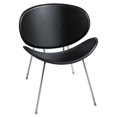 Sy leather guest chair, black, sold as 1 each