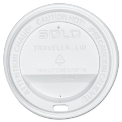 Traveler drink-thru lid, white, 300/carton, sold as 1 carton, 300 each per carton