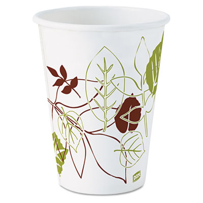 Pathways paper hot cups, 12oz, 1000/carton, sold as 1 carton, 1000 each per carton