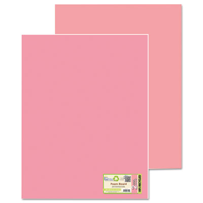 Too cool foam board, 20x30, fluorescent pink/pink, 5/carton, sold as 1 carton, 5 each per carton