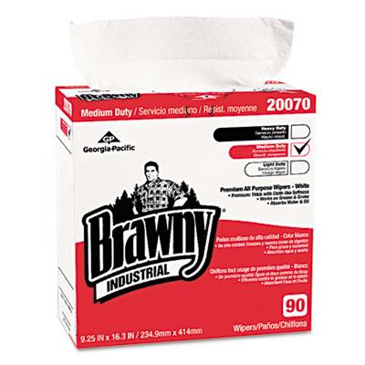 Medium-duty premium wipes, 9 1/4 x 16 3/8, white, 90/box, sold as 1 box, 90 each per box