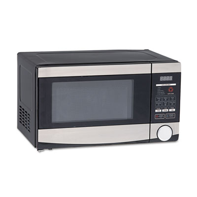 0.7 cu.ft capacity microwave oven, 700 watts, stainless steel and black, sold as 1 each
