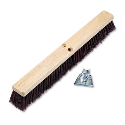 "Floor brush head, 3 1/4"" maroon stiff polypropylene, 24, sold as 1 each"