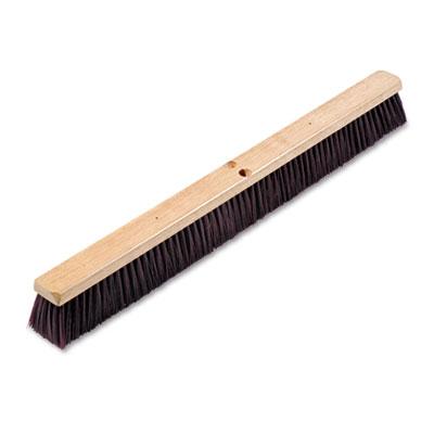 "Floor brush head, 3 1/4"" maroon stiff polypropylene, 36, sold as 1 each"