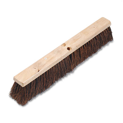 "Floor brush head, 3 1/4"" natural palmyra fiber, 24, sold as 1 each"