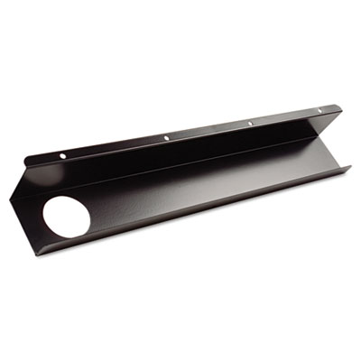 Split-level training table cable tray, metal, 21-1/2w x 3d, black, 2/pack, sold as 1 each