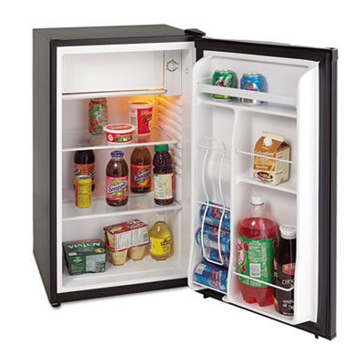 3.3 cu.ft refrigerator with chiller compartment, black, sold as 1 each