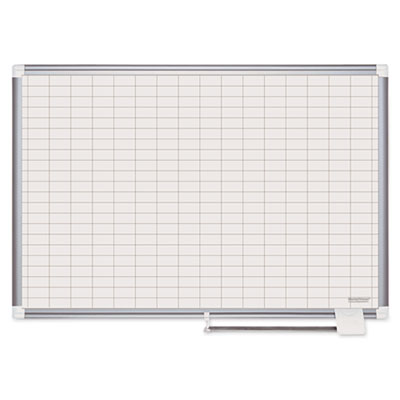 "Platinum plus dry erase planning board bd, 1x2"" grid, 48x36, aluminum frame, sold as 1 each"