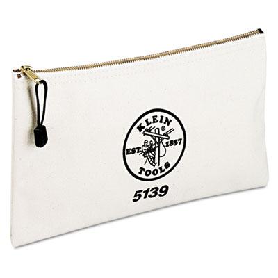 """Utility canvas zipper bag, 12 1/2""""""""w x 7""""""""h, sold as 1 each"""