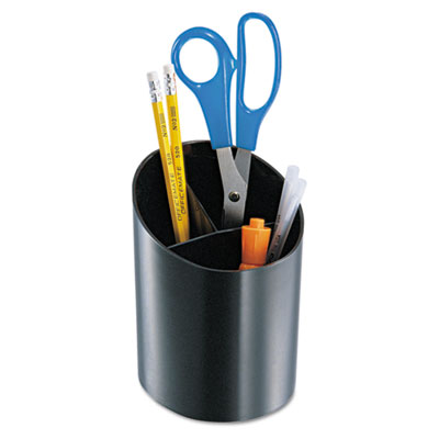 Recycled big pencil cup, 4 1/4 x 4 1/2 x 5 3/4, black, sold as 1 each