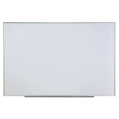 Dry erase board, melamine, 72 x 48, satin-finished aluminum frame, sold as 1 each