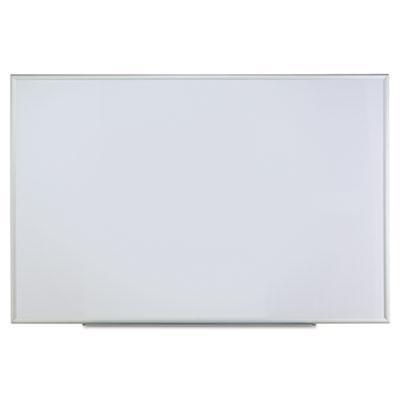 Dry erase board, melamine, 72 x 48, satin-finished aluminum frame, sold as 1 each