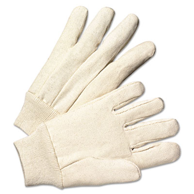 Light-duty canvas gloves, white, 12 pairs, sold as 1 package