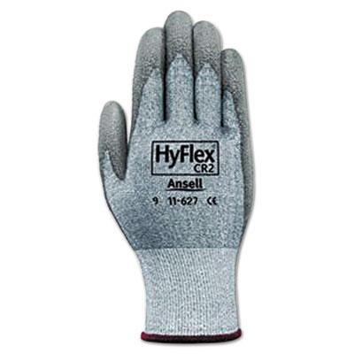 Hyflex 627 light-duty gloves, size 10, dyneema/lycra/polyurethane, gy, 12 pairs, sold as 12 each