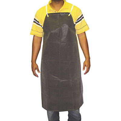 "Hycar bib apron with cloth backing, 24"""" x 36"""", black, sold as 1 each"