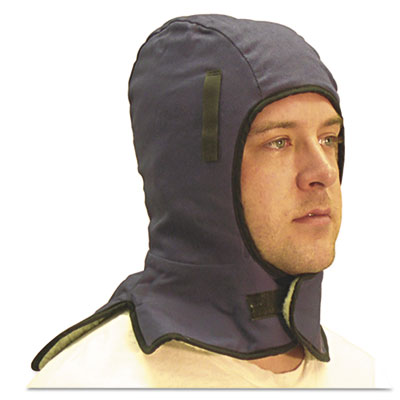 Extra large neck flap winter liner twill, one size fits all, blue, sold as 1 each