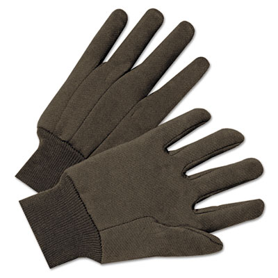 Jersey general purpose gloves, brown, 12 pairs, sold as 1 package