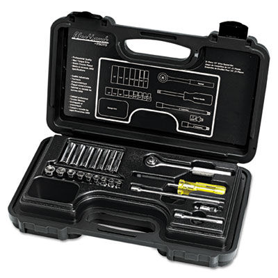 "21-piece deep and standard socket set, 1/4"""" drive, sold as 21 each"