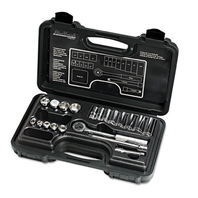 "20-piece mechanic's tool set, sae, 3/8""""-drive, deep/standard, 12-point, sold as 20 each"