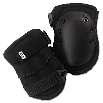 Altalok knee pads, fastener closure, neoprene/nylon, rubber, black, sold as 1 pair, 2 per pair