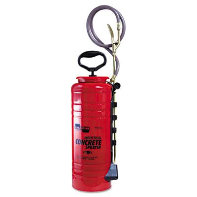 Concrete sprayer, 3.5gal, open head, steel, red, sold as 1 each