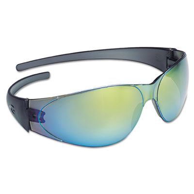 Checkmate safety glasses, rainbow-mirrored lens, sold as 1 each