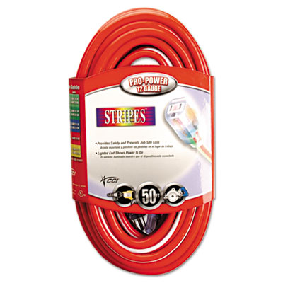 Stripes extension cord, 12/3 awg, 50ft, sold as 1 each