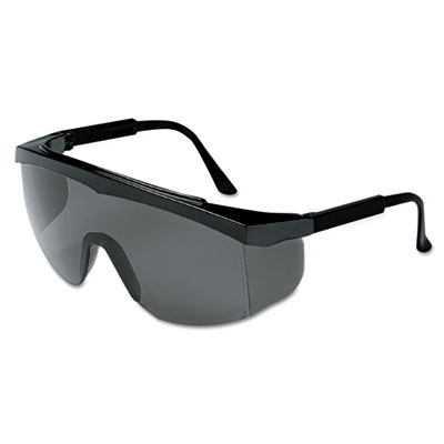 Stratos spectacles, black frame, gray lens, sold as 1 each