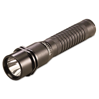 Strion led rechargeable flashlight, 3.75v lithium-ion, 120v ac/dc charger, black, sold as 1 each