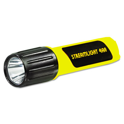 Propolymer lux led flashlight, 4aa (included), yellow, sold as 1 each