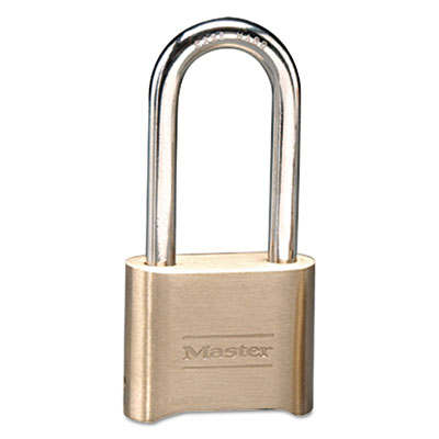"Resettable combination padlock, brass, 2"", brass color, 6/box, sold as 1 box, 6 each per box"
