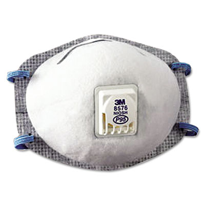 N95 particulate respirator, half facepiece, oil resistant, fixed strap, sold as 10 each