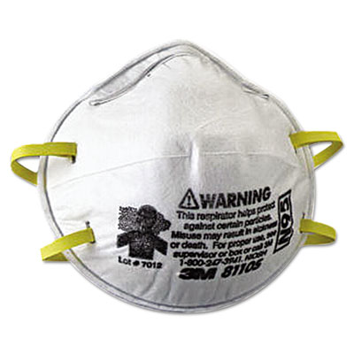 N95 particulate respirator, half facepiece, small, fixed strap, sold as 20 each
