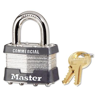 No. 1 laminated steel pin tumbler padlock, 4 pin, sold as 4 each