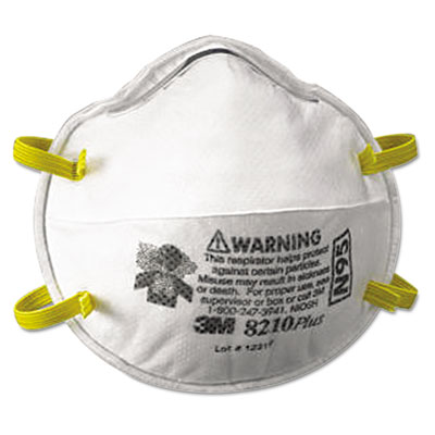 Particulate respirator 8210plus, n95, 20/box, sold as 20 each