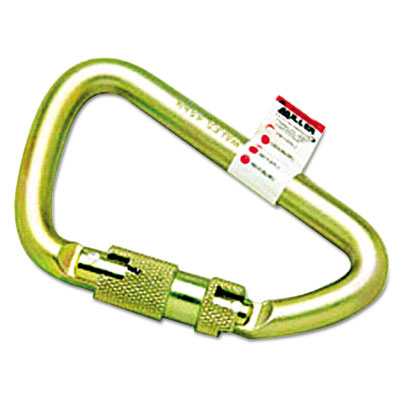 Twist-lock carabiner, 1? spring-loaded gate, 4 1/2 x 2 3/4, sold as 1 each