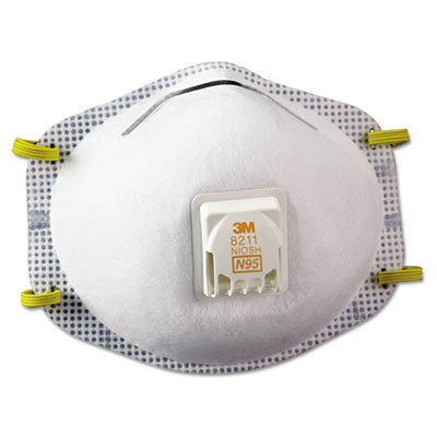Particulate respirator 8211, n95, 10/box, sold as 10 each