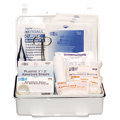 Industrial #25 weatherproof first aid kit, 159-pieces, plastic case, sold as 1 kit